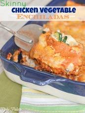 Skinny Chicken Vegetable Enchiladas