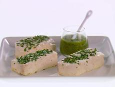 Baked Halibut with Arugula Salsa Verde