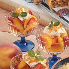 Strawberry Peach Cups Recipe
