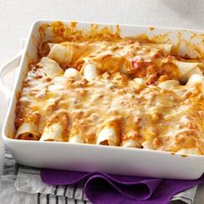 Simple Creamy Chicken Enchiladas Recipe