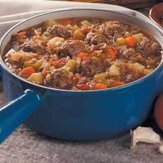 Bavarian Meatball Stew Recipe