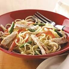 Pork Linguine Toss Recipe