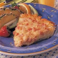 Hash Brown Ham Quiche Recipe