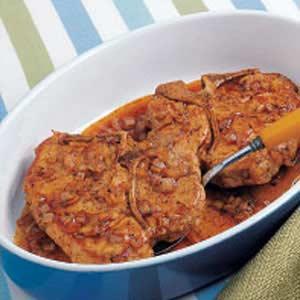 Baked Saucy Pork Chops Recipe