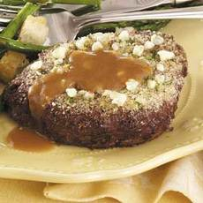 Blue Cheese-Topped Steaks Recipe