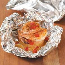 Pineapple Shrimp Packets Recipe