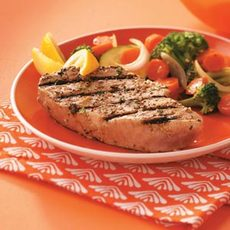 Garlic Herbed Grilled Tuna Steaks Recipe