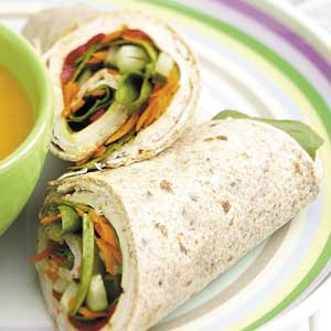 Turkey Lunch-Box Wraps Recipe