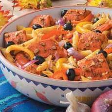 Lemony Salmon and Pasta Recipe