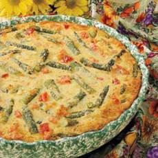 Salmon Asparagus Tart Recipe