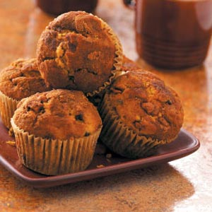 Double-Chip Pumpkin Cinnamon Muffins Recipe