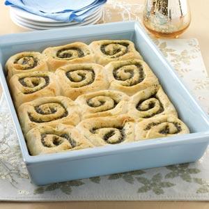 Pesto Pinwheel Buns Recipe