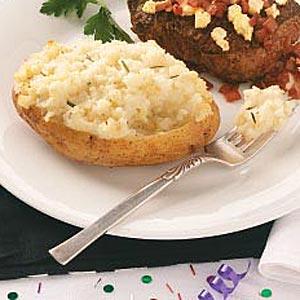 Roasted Garlic Twice-Baked Potato Recipe