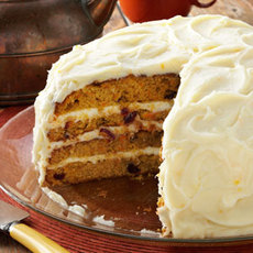 Cranberry-Carrot Layer Cake Recipe