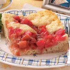 Old-Fashioned Rhubarb Pudding Cake Recipe