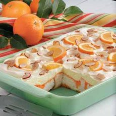 Orange Angel Food Cake Dessert Recipe