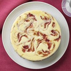 Rhubarb Swirl Cheesecake Recipe