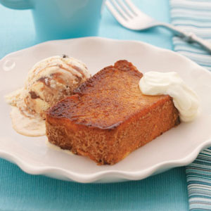 Caramelized Angel Food Cake Sundaes Recipe
