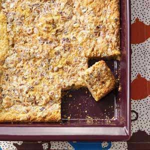 Caramel-Pecan Dream Bars Recipe