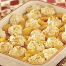 Cheddar-Biscuit Peach Cobbler Recipe