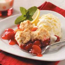 Cherry Peach Cobbler Recipe