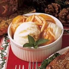 Almond Peach Sundae Recipe