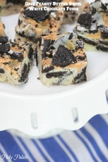 Oreo Peanut Butter Swirl White Chocolate Fudge