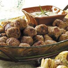 Rosemary Veal Meatballs Recipe