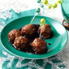 Pomegranate-Glazed Turkey Meatballs Recipe