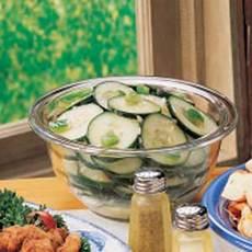 Dressed-Up Cucumbers Recipe