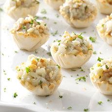 Apple-Nut Blue Cheese Tartlets Recipe