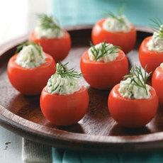 Cucumber-Stuffed Cherry Tomatoes Recipe