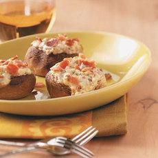 Blue Cheese and Bacon Stuffed Mushrooms Recipe