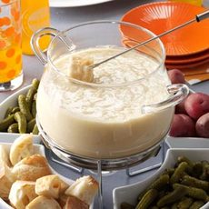 Three-Cheese Fondue Recipe