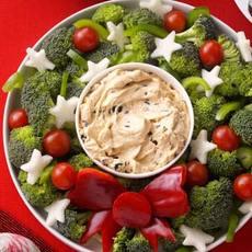Vegetable Wreath with Dip Recipe