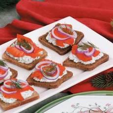 Smoked Salmon Canapes Recipe