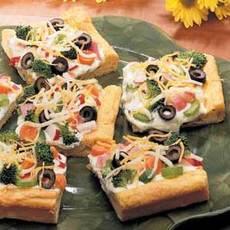 Quick Cold Vegetable Pizza Recipe