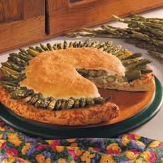 Asparagus Puff Pizza Recipe