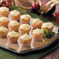 Frosted Carrot Mini Muffins Recipe