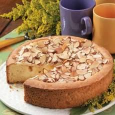 Creamy Peach Coffee Cake Recipe