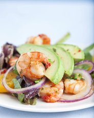 Seared Shrimp Salad