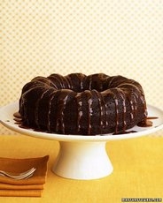 Chocolate-Ginger Cake with Bourbon Sauce