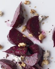 Roasted Beet Salad with Blue Cheese and Nuts
