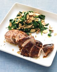 Spice-Rubbed Chicken with Israeli Couscous