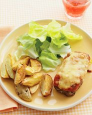 Mini Honey-Mustard Meatloaves with Roasted Potatoes