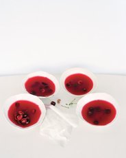 Sour Cherry-Rose Jellies