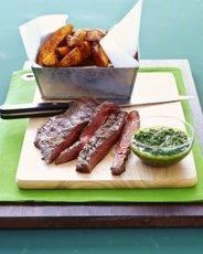 Flank Steak with Parsley-Garlic Sauce