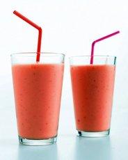 Strawberry, Mango, and Yogurt Smoothie
