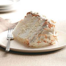 Orange-Coconut Angel Food Cake Recipe