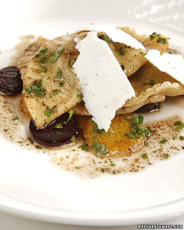 Green Pierogi with Mixed Summer Beets, Brown Butter Sauce, and Ricotta ...